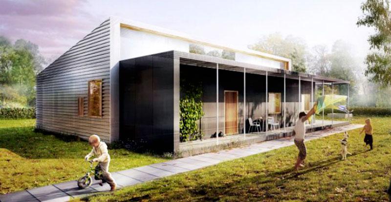 Una casa costruita interamente con materiali riciclati for Ottenere una casa costruita